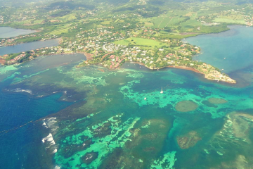 The overflight in Martinique